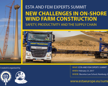 FEM-ESTA Summit on on-shore wind farm construction