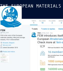 FEM is on Twitter – @FEM_EUR