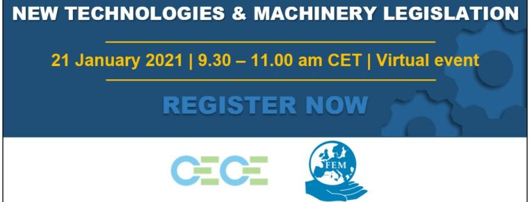 FEM and CECE workshop on new technologies and machinery legislation